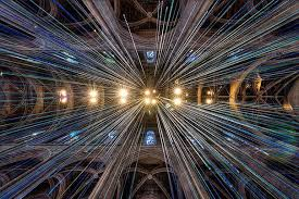 Church Ceilings 20 Miles Of Multicolored Ribbons Fall From Church Ceilings In Art