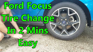 how to change a flat tire ford focus hatchback 2012 2016 youtube