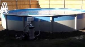 Intex Ultra Frame Pool 14x42 Above Ground Pool Installation In Unlevel Grounded Backyard Youtube