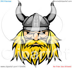 clipart of an aggressive blond viking warrior face royalty free