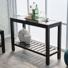 Black Modern Coffee Table Console Tables Popular Glass Console Table With Mode Steel
