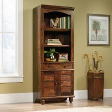 Sauder Harbor View Bookcase Harbor View Library Bookcase With Doors 158082 Sauder