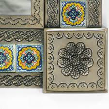 Mexican Tile Tucson Arizona by Talavera Tile Tin Mirror 34in X 26in One
