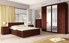 enzo modern mahogany bedroom furniture wardrobe drawers bedside