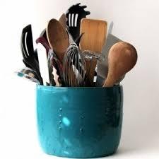 kitchen utensil canister ceramic utensil holders foter