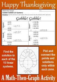 22 best thanksgiving 15 systems of linear equations images on
