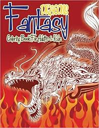 fantasy dragons coloring book adults u0026 kids super fun