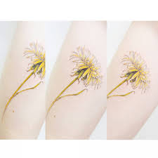 yellow flower tattoos 11 flower tattoos to rock on your arm brit co