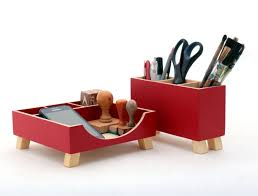 Wood Desk Accessories by Desk Organizer Red Desktop Organizer Desktop Set Red Wood Desk