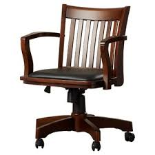 wood desk chair with wheels office chairs joss main