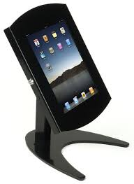 this ipad desk stand is a great marketing tool for retail stores
