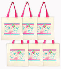 party favor bags flamingo party tote bags set of 6 party favor bags