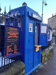 police box coffee kiosk shop tardis rare opportunity available police box coffee kiosk shop tardis rare opportunity available doctor who west end glasgow
