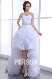 robe mari e courte devant longue derriere robe mariée bustier coeur courte devant longue derrière en organza
