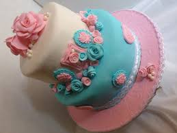 Shabby Chic Baby Shower Cakes by Shabby Chic Baby Shower Cake In Pink Teal Cakecentral Com