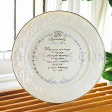 anniversary plates belleek 25th wedding anniversary plate gifts for silver wedding