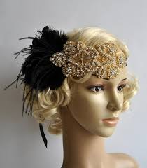 flapper headband diy gold black feather flapper gatsby headband wedding hcrystal