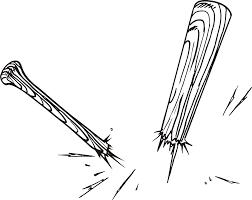 baseball bat softball bats crossed clipart clipartix