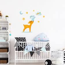 stickers animaux chambre bébé sticker animaux scandinaves lapin et le faon stickers chambre