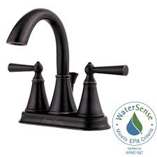 Bronze Faucets For Bathroom by Pfister Saxton 4 In Centerset 2 Handle High Arc Bathroom Faucet