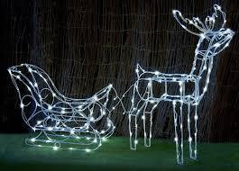 solar led christmas lights outdoor 145cm 3d deer sleigh white solar led flashing outdoor lights
