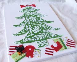 christmas tree canvas easy art cleverly inspired