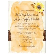 wedding invitations rustic rustic wedding invitation watercolor sunflowers stitched burlap