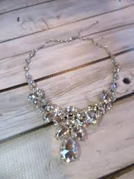 long crystal statement necklace images Clear crystal statement necklace earring set the last minute bride jpg