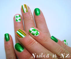 nailed it nz st patrick u0027s day nail art five different designs