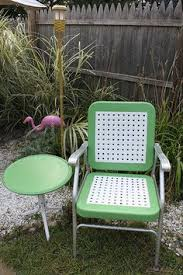 Lawn Chair With Table Attached Oh Yeah Old Lawn Chairs Eating Outside Iced Tea Talking