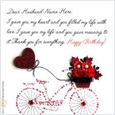 birthday wishes for husband with photo and name editor