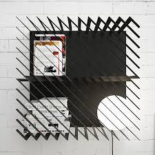 hash a graphic modular bookshelf design milk