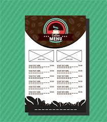 cafe menu template coffee bean and contrast background free vector