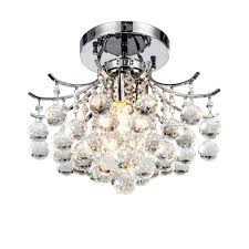semi flush crystal ceiling lights with 3 light for dinning room