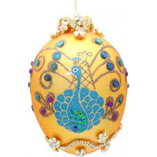 egg ornament yourchristmasstore peacock jeweled faberge egg