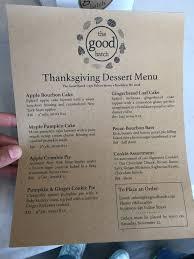 thanksgiving dessert menu yelp