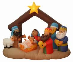 airblown nativity decorations