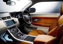 luxury cars inside range rover evoque