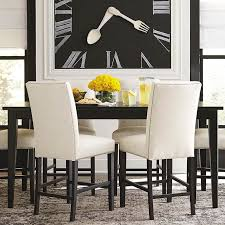 Custom Rectangular Table Dining Room Bassett Furniture - Black and white contemporary dining table