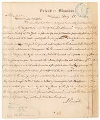 abraham lincoln thanksgiving proclamation 1864 telegram from president abraham lincoln to major general john a