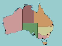 map of australia with cities and states test your geography knowledge australia state and territory