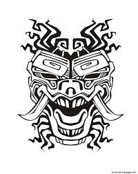 mask inspiration inca mayan aztec 2 coloring pages printable