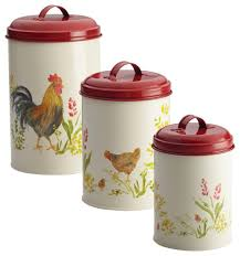 kitchen canisters set paula deen pantryware food storage 3 canister set