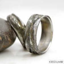 alternative wedding ring wedding damascus steel ring rustic mens and womens
