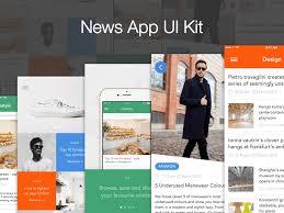 news app ui kit sketch freebie download free resource for sketch