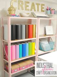 inexpensive craft room shelving classy clutter industrial glam