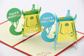 funny birthday cards 3d pop up card kids birthday cards monster