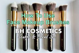 bh cosmetics face makeup brushes set tutorial how to use youtube