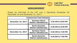 light rail holiday schedule the top 5 best blogs on lrt 1 schedule lrt 2 schedule