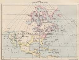 Map Of Time Sanson U0027s Map Of America